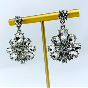 Dazzling Crystal Faceted Statement Earrings